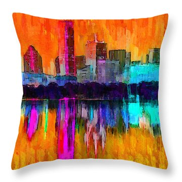 Dallas Skyline 7 - Pa Throw Pillow