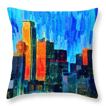 Dallas Skyline 76 - Pa Throw Pillow
