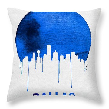 Dallas Skyline Blue Throw Pillow