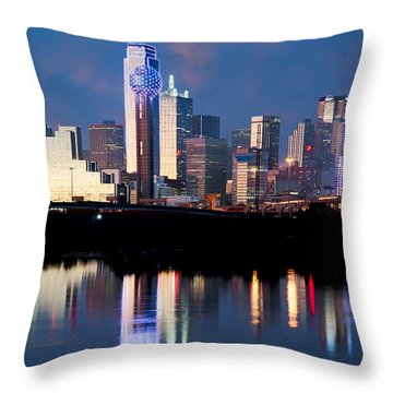 Dallas Skyline May 2015 Throw Pillow