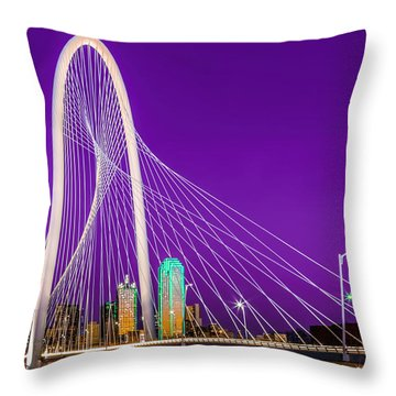 Dallas Skyline Purple Throw Pillow
