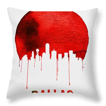 Dallas Skyline Red Throw Pillow
