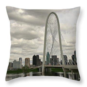 Dallas Suspension Bridge Throw Pillow