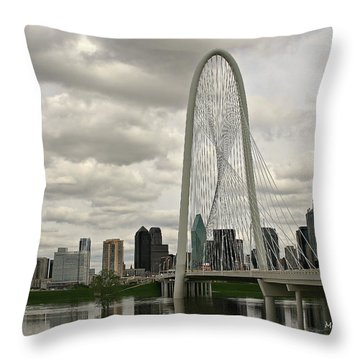 Dallas Suspension Bridge Throw Pillow