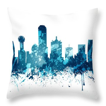Dallas Texas Skyline 19 Throw Pillow