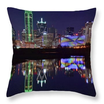 Throw Pillow featuring the photograph Dallas Texas Squared by Frozen in Time Fine Art Photography