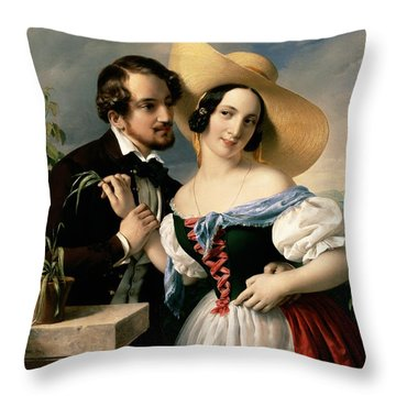 Dalliance Throw Pillow by Miklos Barabas