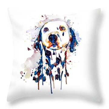 Dalmatian Head Throw Pillow