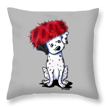 Dalmatian In Red Throw Pillow