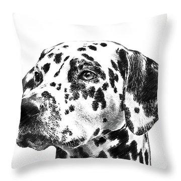Dalmatians - Dwp765138 Throw Pillow