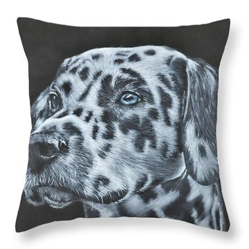 Dalmation Portrait Throw Pillow