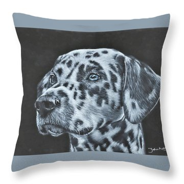 Dalmation Portrait Throw Pillow