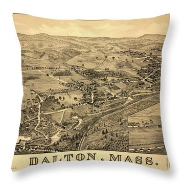 Dalton, Mass. Throw Pillow