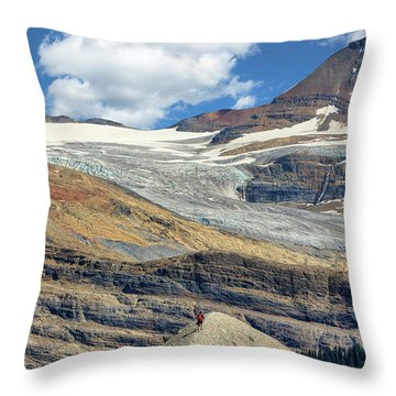 Daly Glacier And Yoho National Park Adventure Throw Pillow