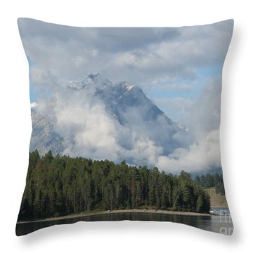 Throw Pillow featuring the photograph Dam Clouds by Greg Patzer