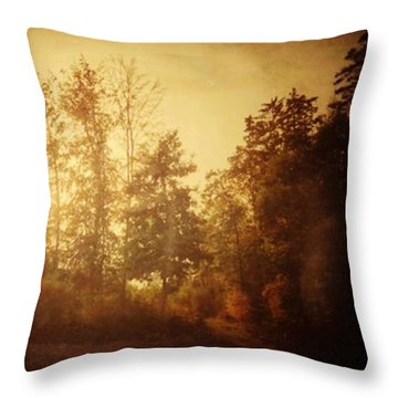 Damals.#herbst #nostalgie #autumn Throw Pillow