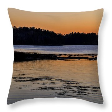 Damariscotta Twilight Throw Pillow