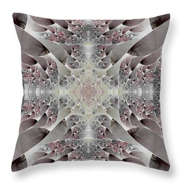 Damask Throw Pillow by Lea Wiggins