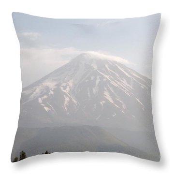 Damavand Mountain  Throw Pillow
