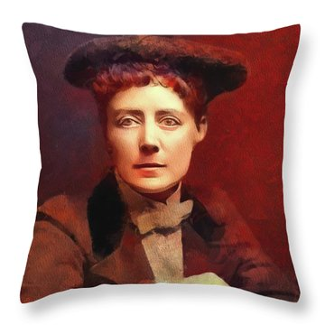Dame Ethel Smyth, Suffragette And Composer Throw Pillow