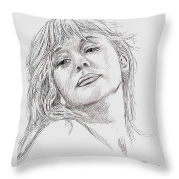 Dame Helen Mirren Throw Pillow