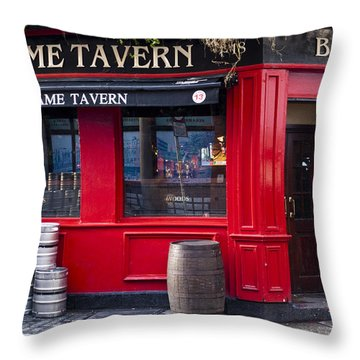 Dame Tavern Throw Pillow by Rae Tucker