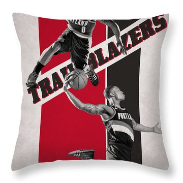 Damian Lillard Portland Trail Blazers Throw Pillow