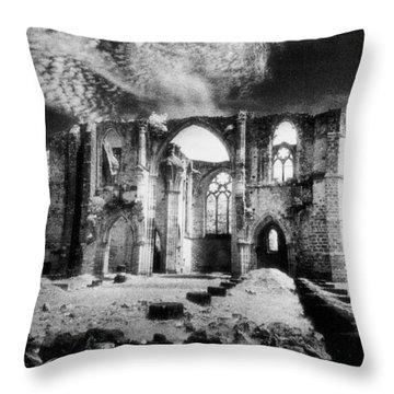 Dammarie Les Lys Abbey Throw Pillow by Simon Marsden