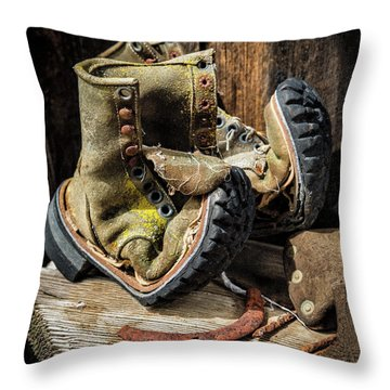 Damn I Worked Hard Human Interest Art By Kaylyn Franks Throw Pillow