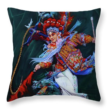 Dan Chinese Opera Throw Pillow