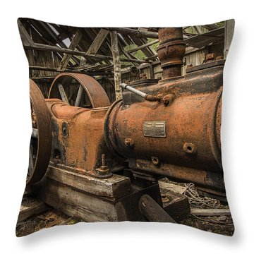 Dan Creek Compressor Throw Pillow