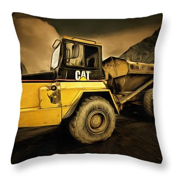 Dan Creek Rock Truck Throw Pillow