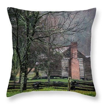 Dan Lawson's Cabin Throw Pillow