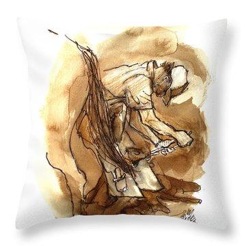 Dan The Farrier At The Morgan Horse Ranch Prns Throw Pillow