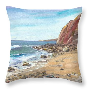 Dana Point Beach Throw Pillow