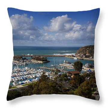 Dana Point Harbor California Throw Pillow