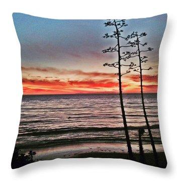 Dana Point Sunset Throw Pillow
