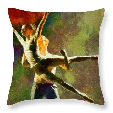 Dance 3 Throw Pillow