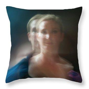 Duet In Blue Throw Pillow
