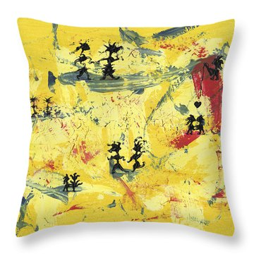 Dance Art Creation 1d9 Throw Pillow