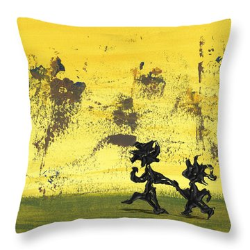 Dance Art Dancing Couple 147 Throw Pillow