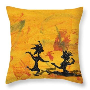 Dance Art Dancing Couple 238 Throw Pillow