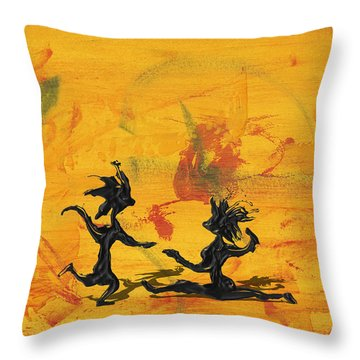 Dance Art Dancing Couple 238 Throw Pillow