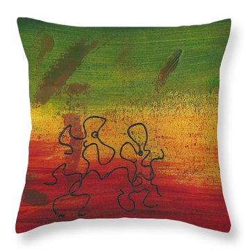Dance Art Dancing Couple 28b Throw Pillow