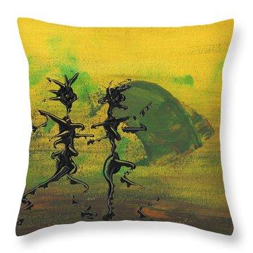 Dance Art Dancing Couple Ix Throw Pillow
