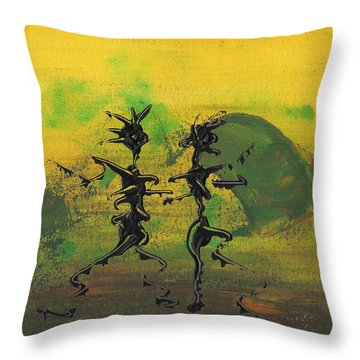 Dance Art Dancing Couple Ix Throw Pillow