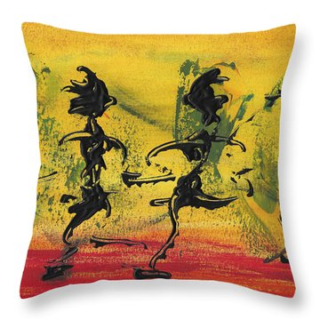 Dance Art Dancing Couple Viii Throw Pillow by Manuel Sueess