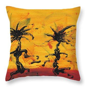 Dance Art Dancing Couple X Throw Pillow