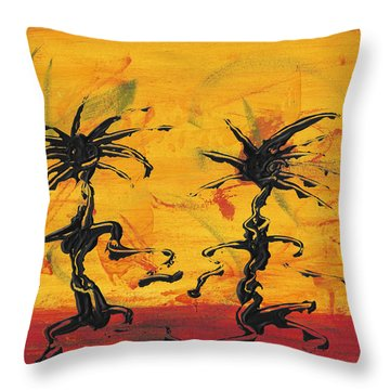 Dance Art Dancing Couple X Throw Pillow