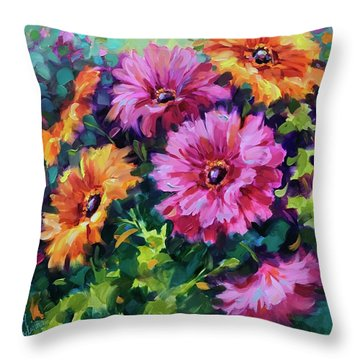 Dance By The Light Of The Moon Daisies Throw Pillow